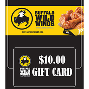 Buffalo Wild Wings Plastic Gift Card