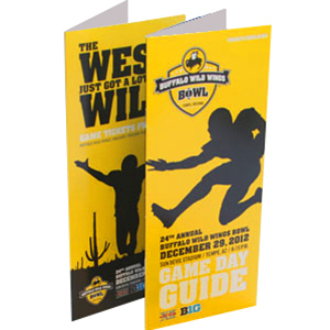 Buffalo Wild Wings tri-fold Direct Mailer